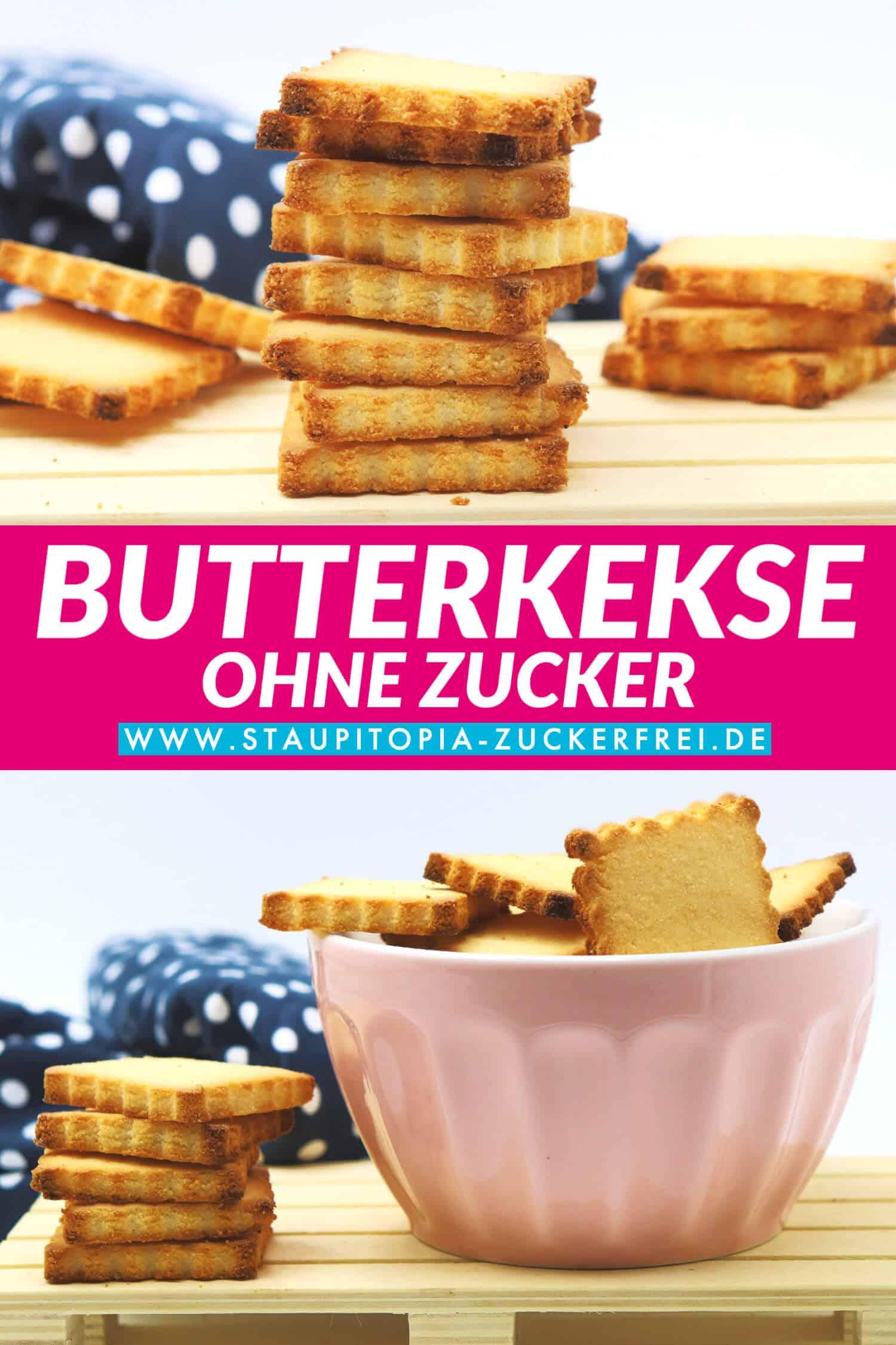 Butterkekse ohne Mehl und Zucker selber machen