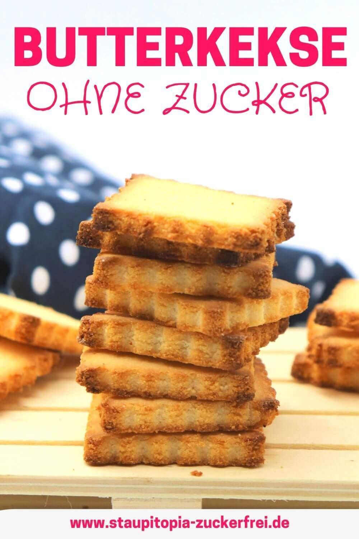 Rezept für einfache Butterkekse ohne Zucker