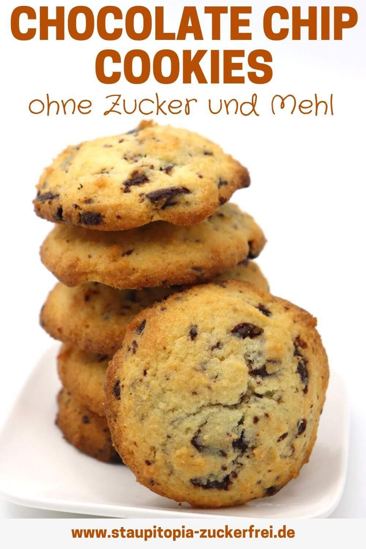 Chocolate Chip Cookies ohne Zucker und Mehl
