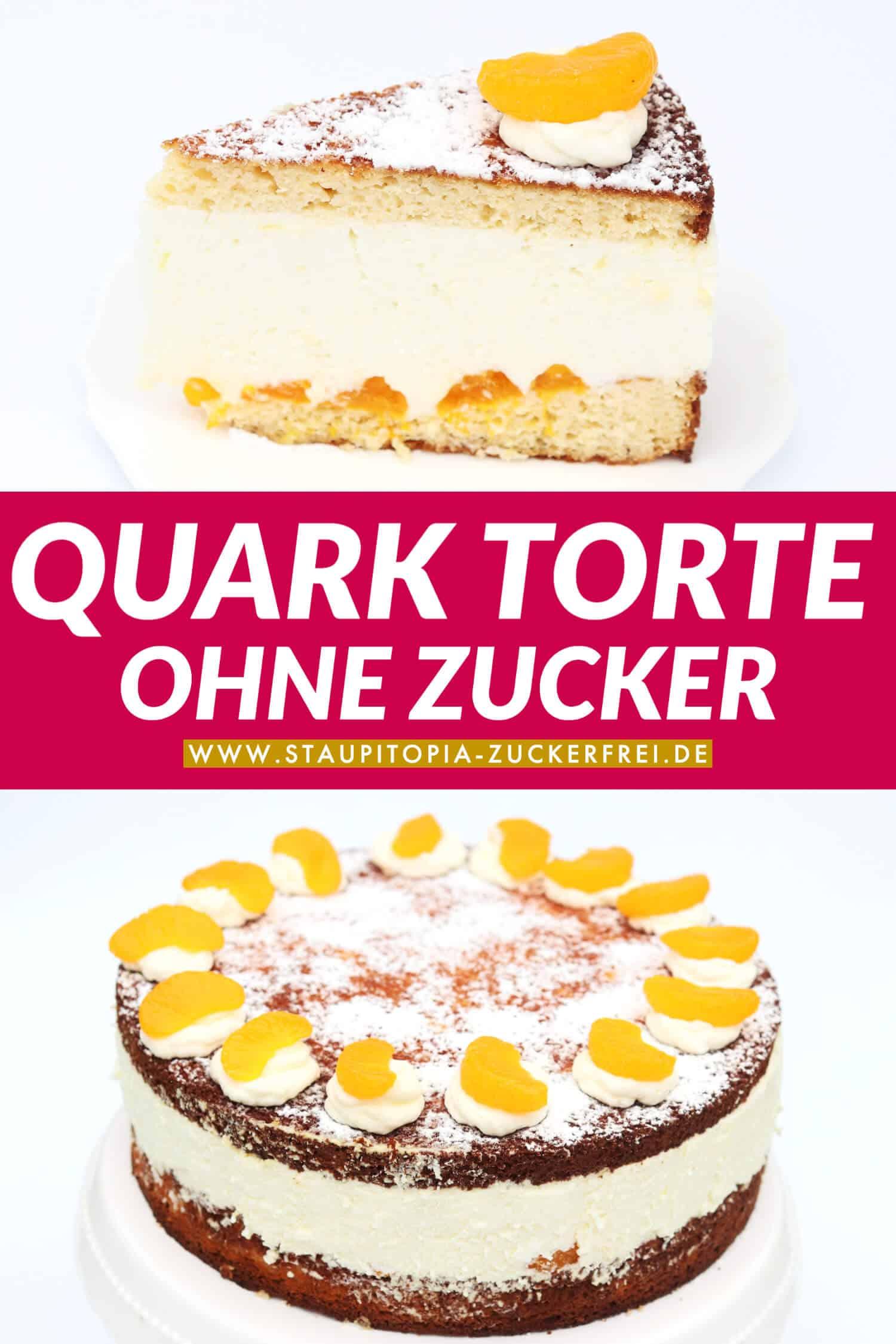 Low Carb Magerquark Torte ohne Mehl Rezept