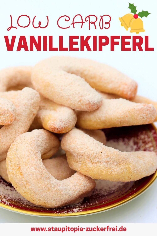 Low Carb Vanillekipferl - Rezept für Low Carb Weihnachtsplätzchen