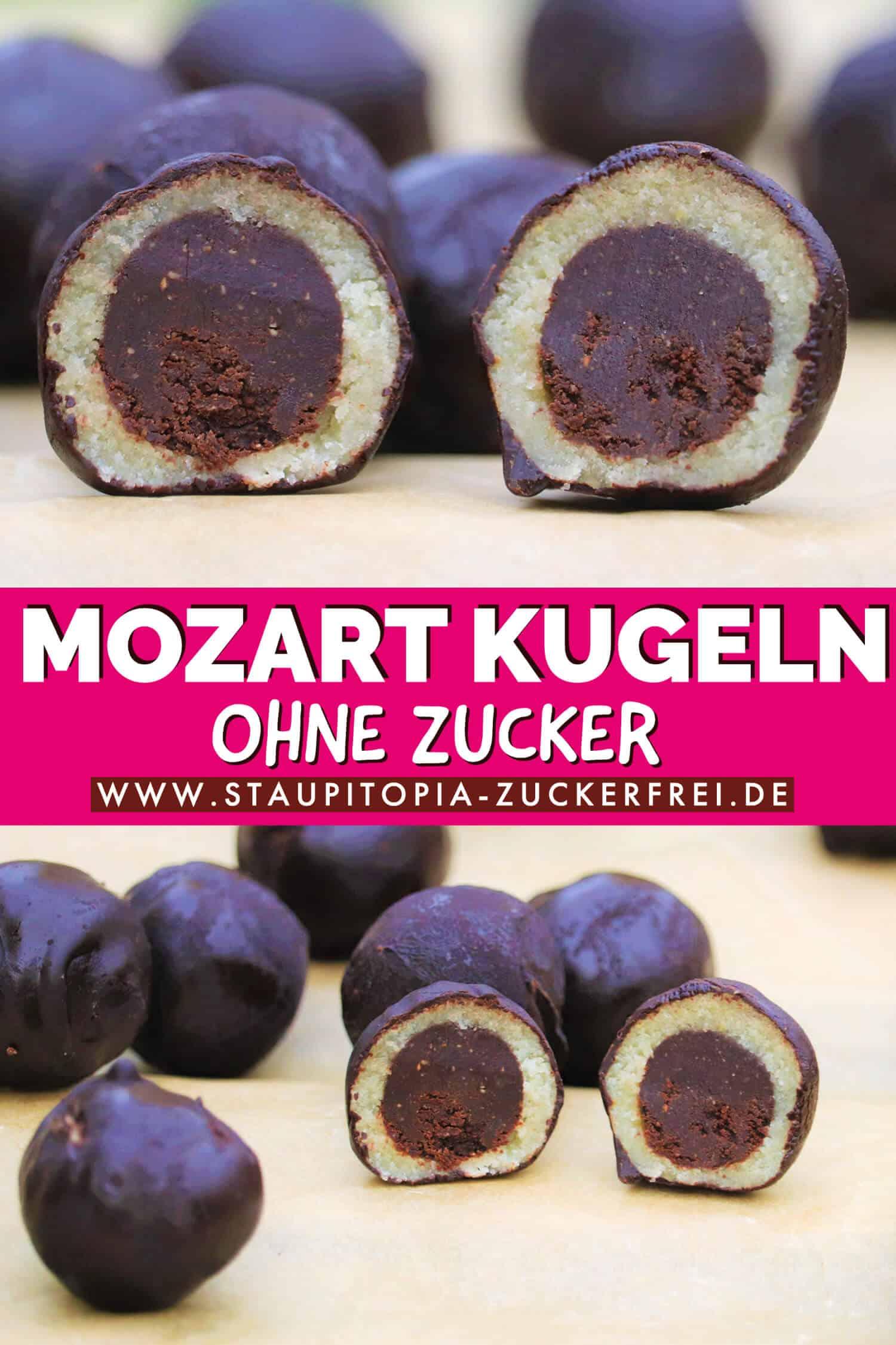 Mozart Kugeln ohne Zucker selber machen
