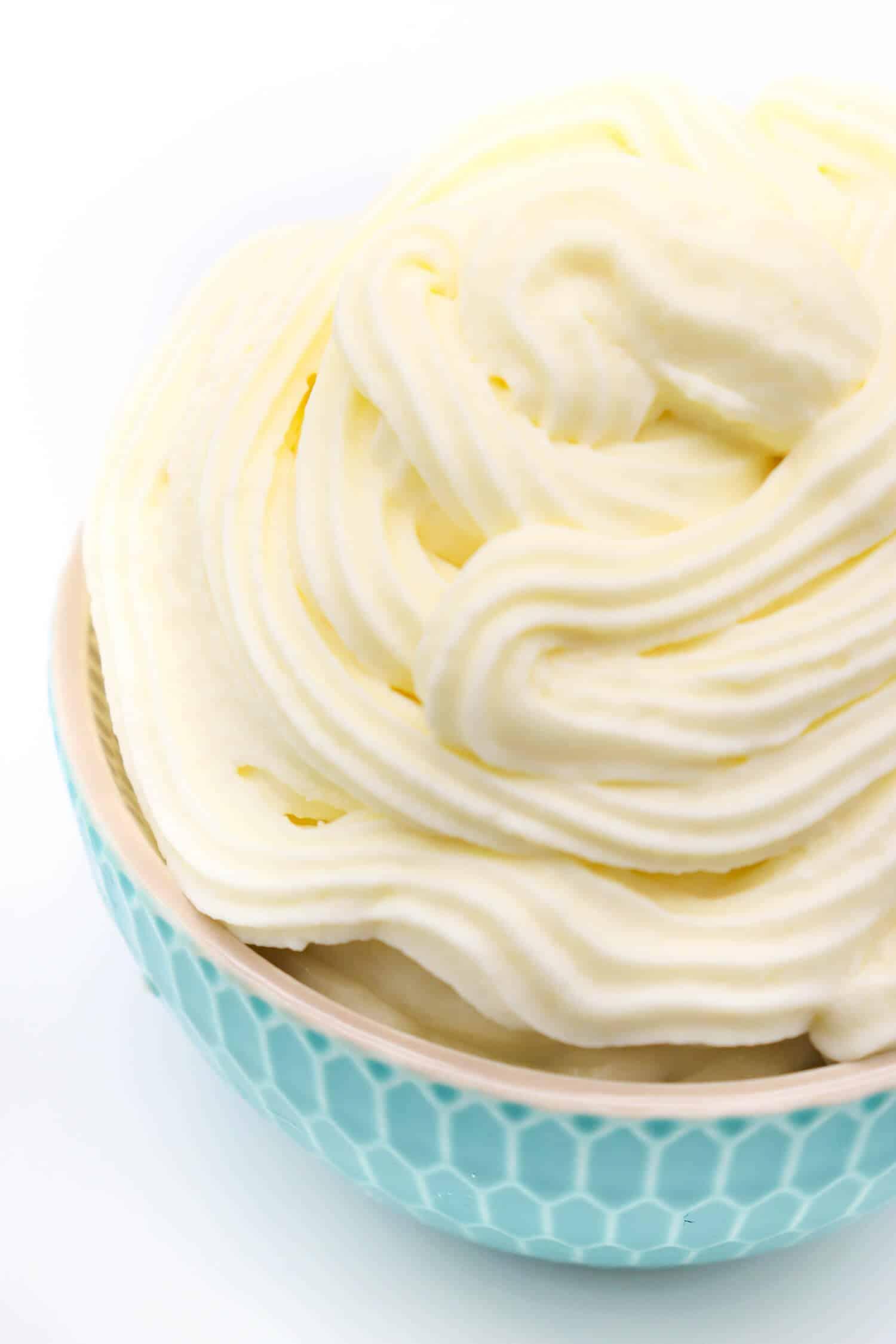 Frischkäse Frosting ohne Zucker und Butter