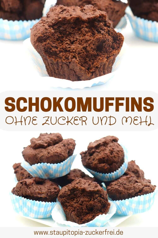 Gesunde Schokomuffins ohne Zucker selber machen