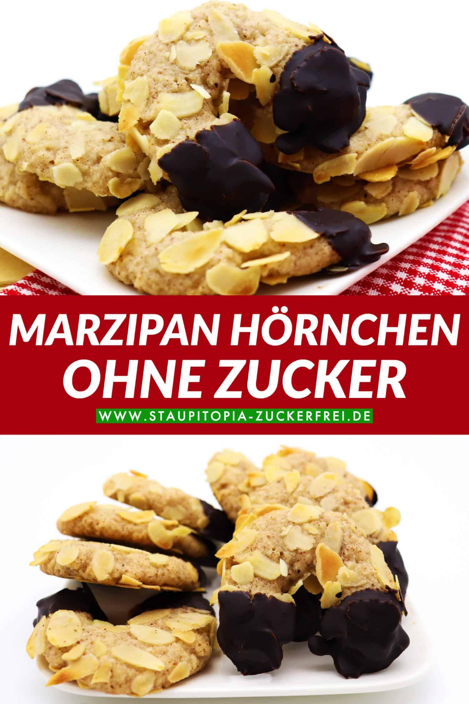 Rezept für Marzipan Hörnchen ohne Zucker