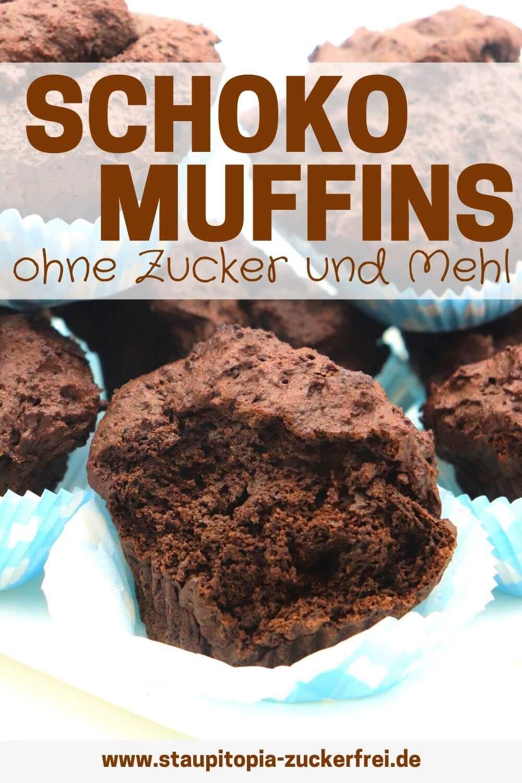 Schokomuffins ohne Zucker und Mehl selber machen
