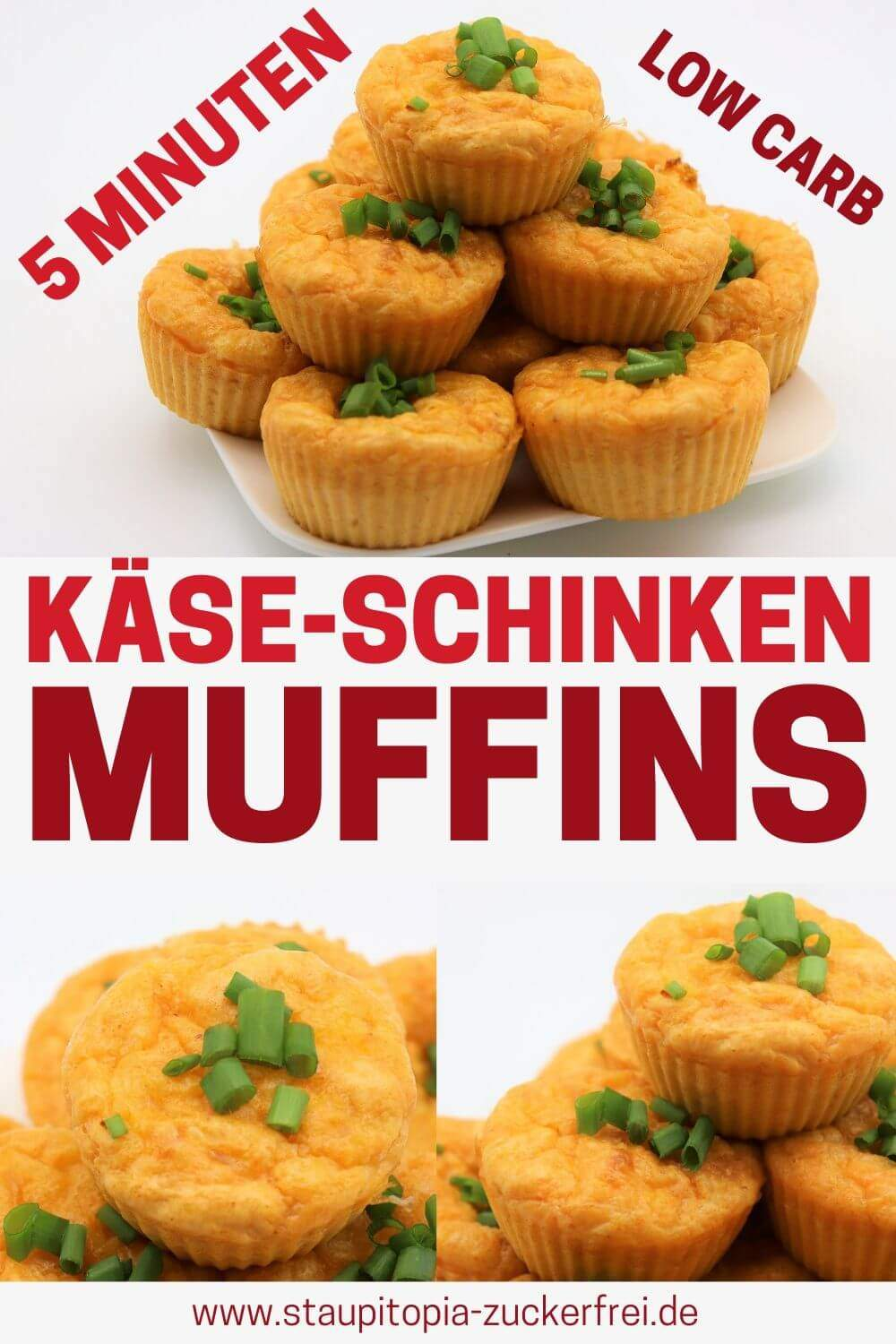 Low Carb Käse Schinken Muffins ohne Kohlenhydrate