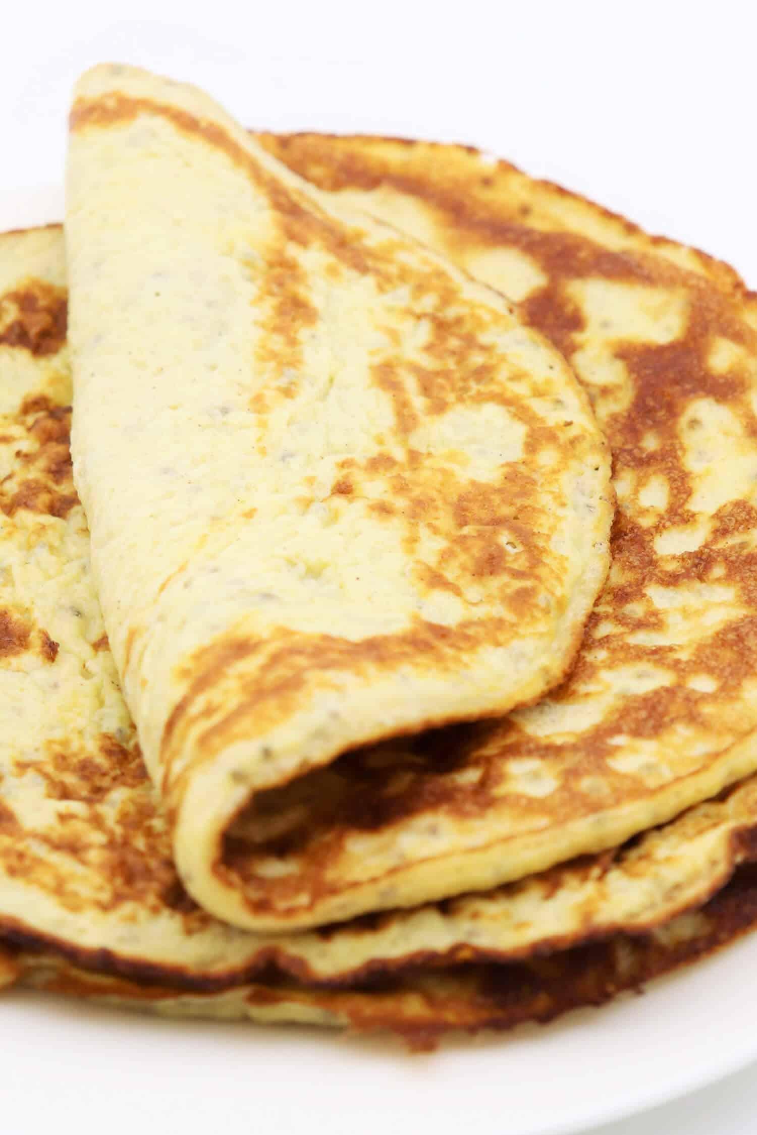 Rezept für gesunde Pfannkuchen ohne Mehl und Zucker