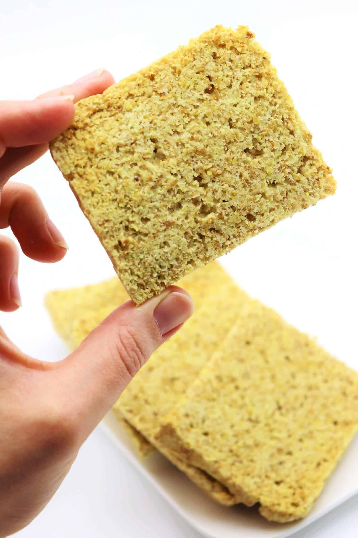 Low Carb Brot backen vegan und glutenfrei
