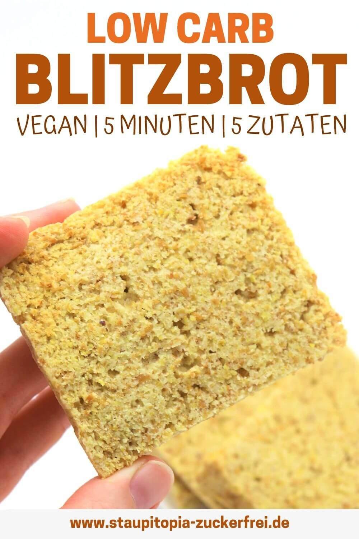 Low Carb Brot vegan Rezept ohne Kohlenhydrate