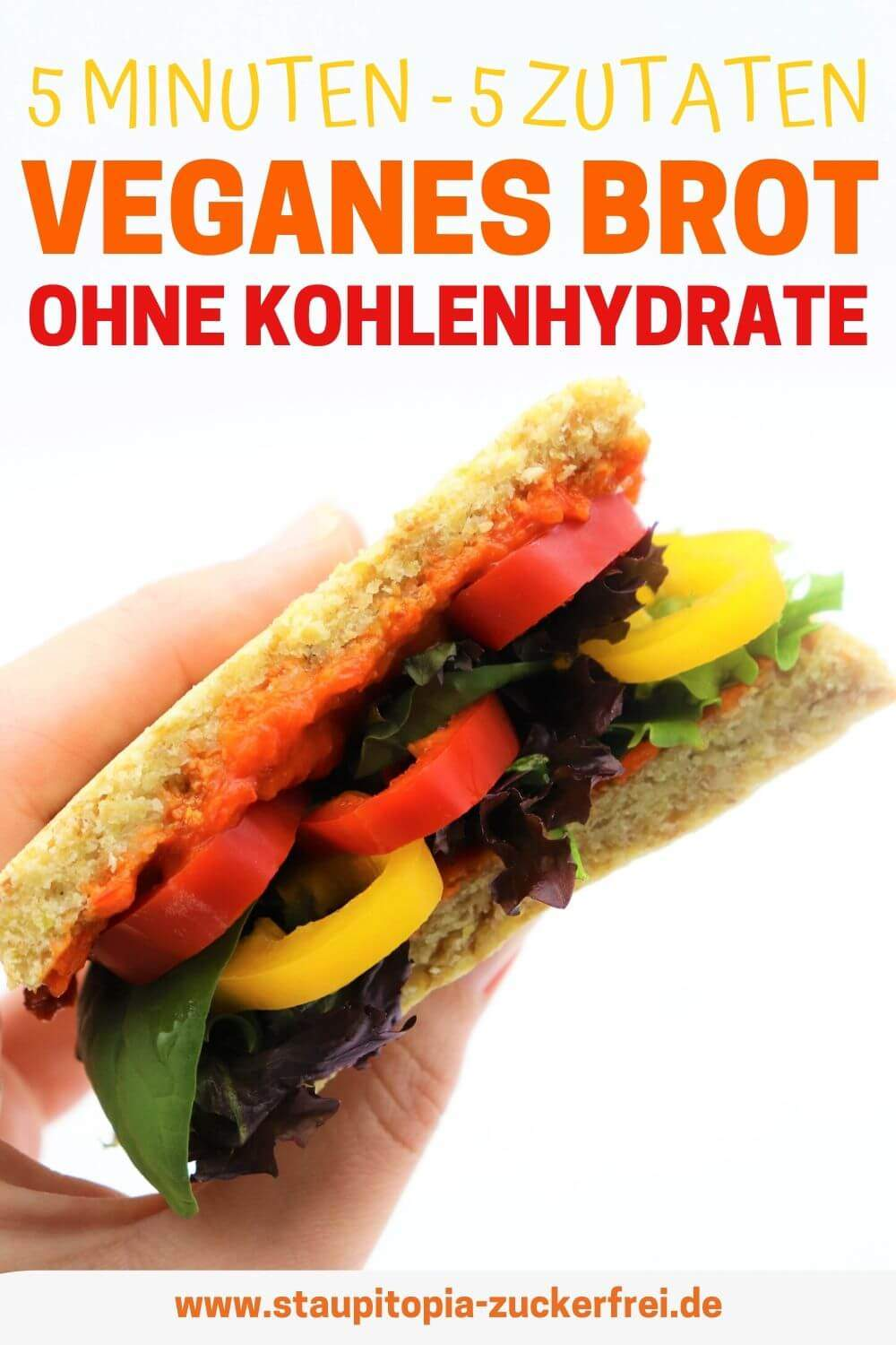 Low Carb Brot vegan mit Leinsamen