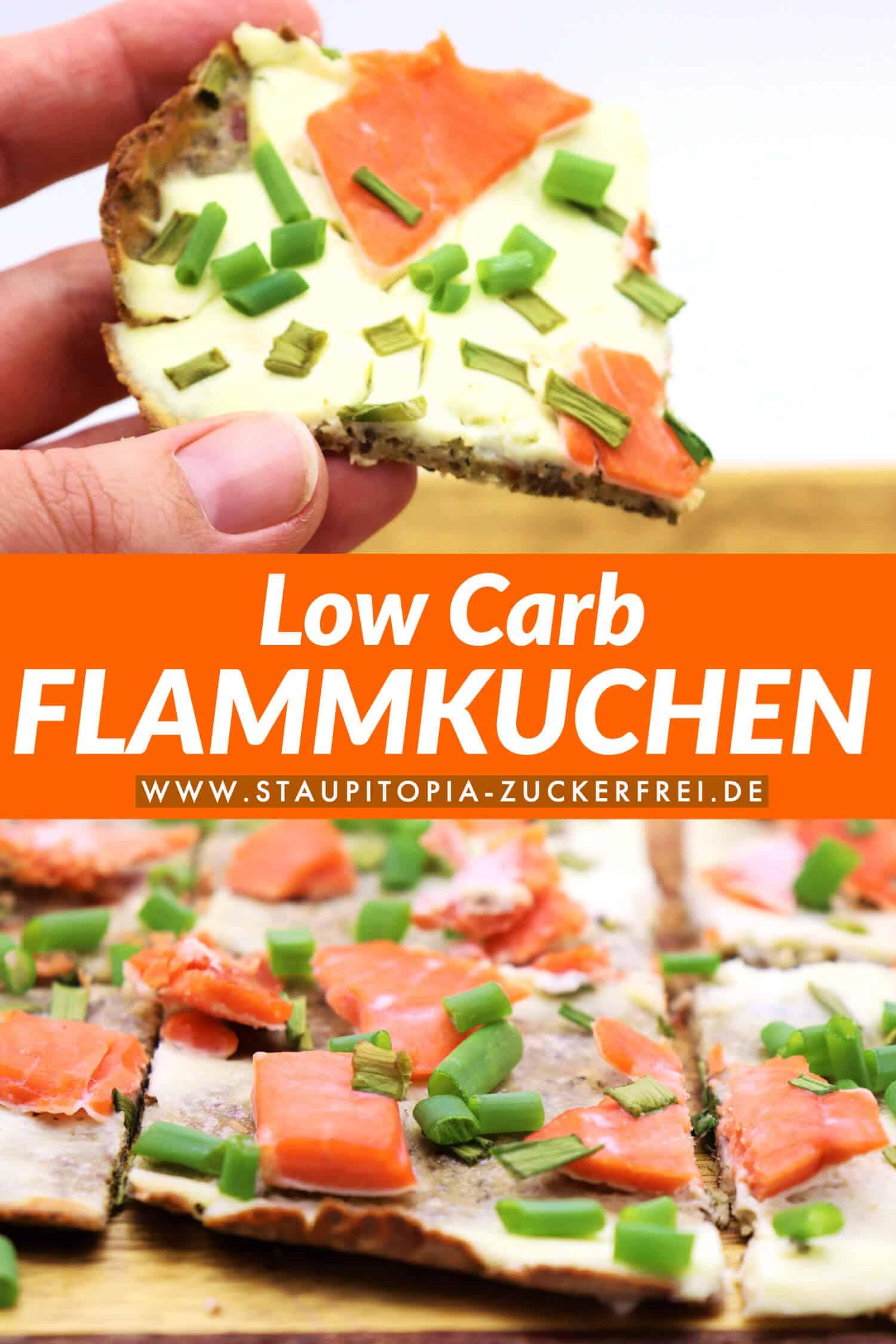 Low Carb Flammkuchen Rezept ohne Kohlenhydrate