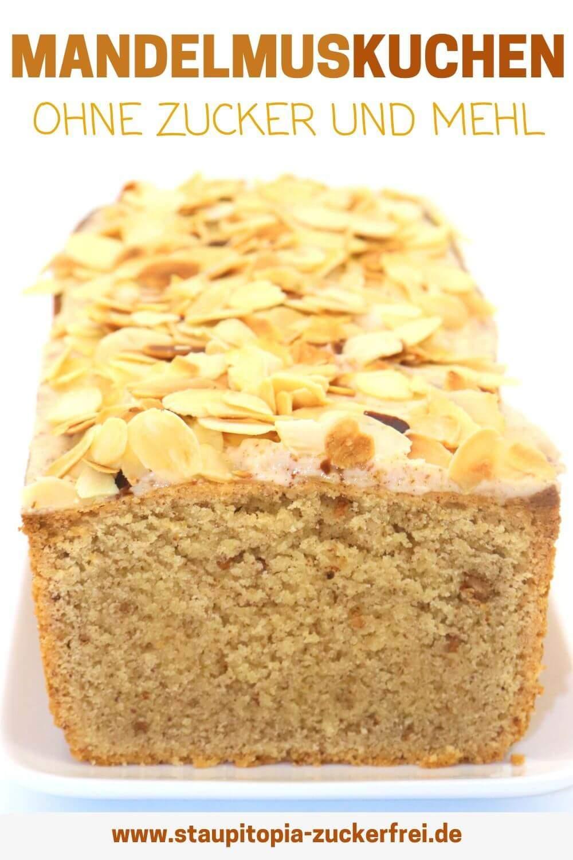Low Carb Mandelmuskuchen ohne Zucker