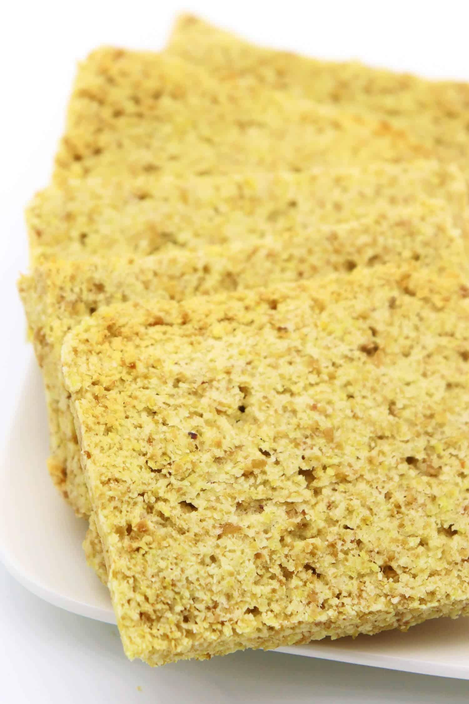 Rezept für ein veganes Low Carb Brot aus der Mikrowelle