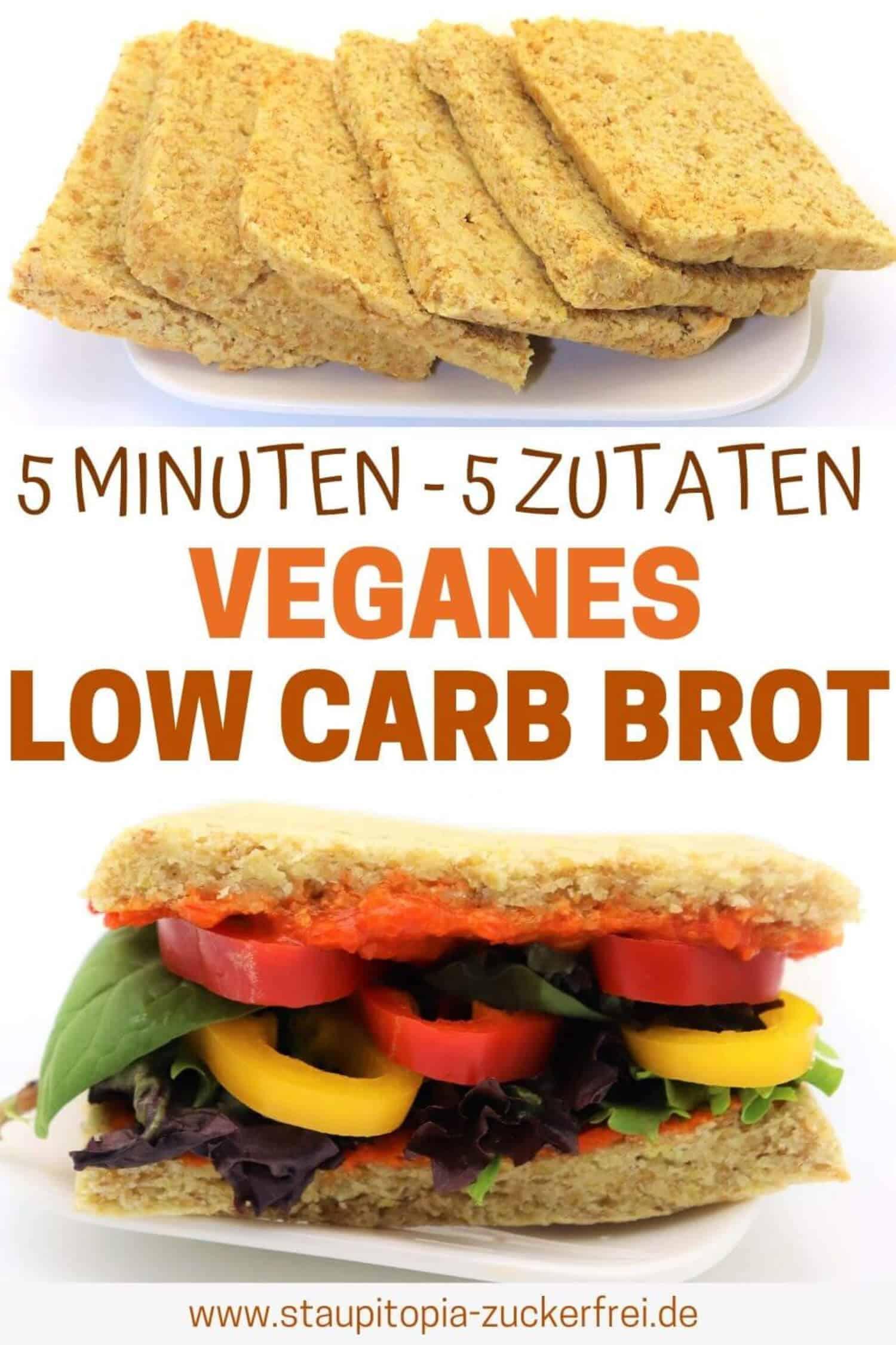 Veganes Low Carb Brot schnell und einfach