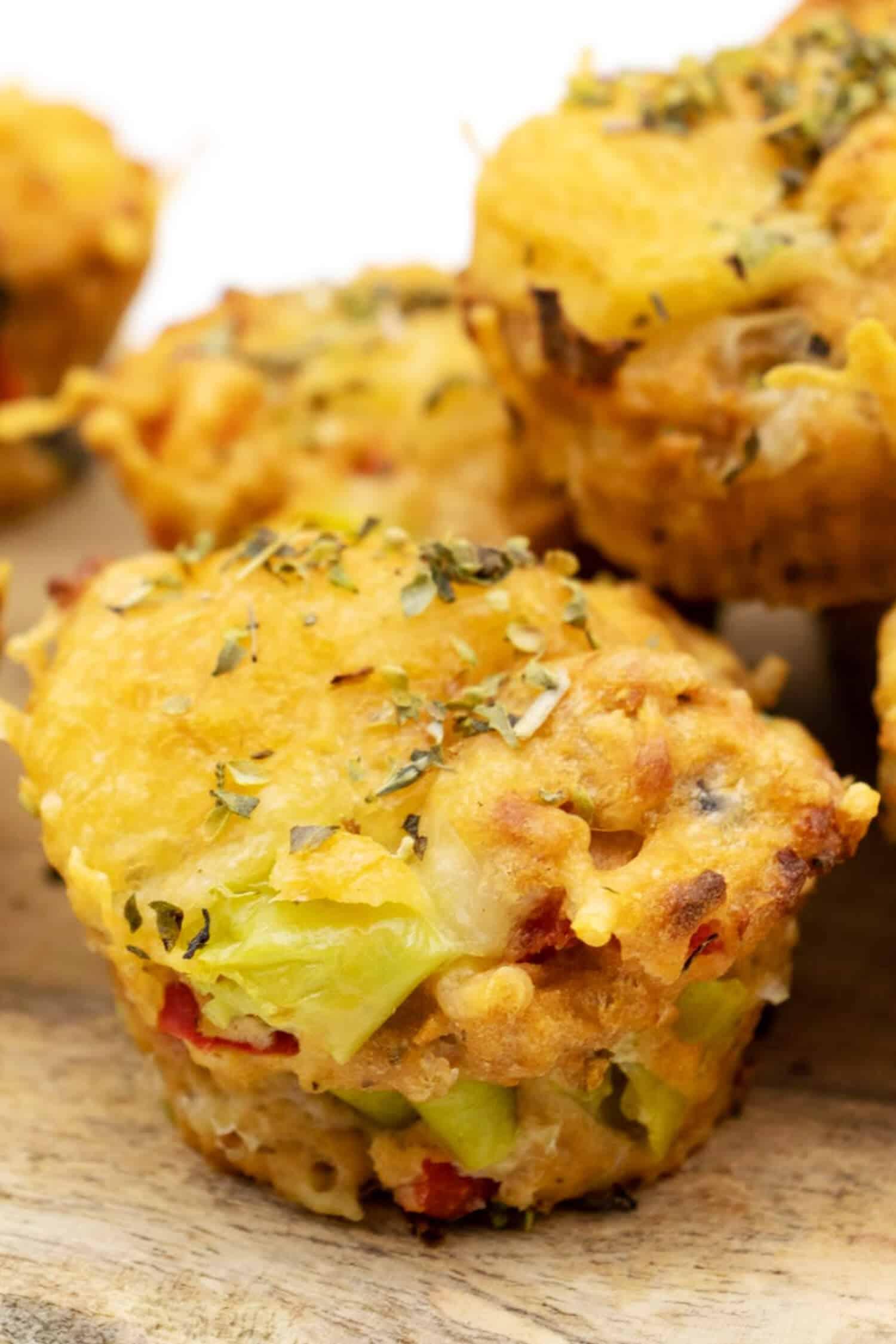 Low Carb Pizzamuffins glutenfrei