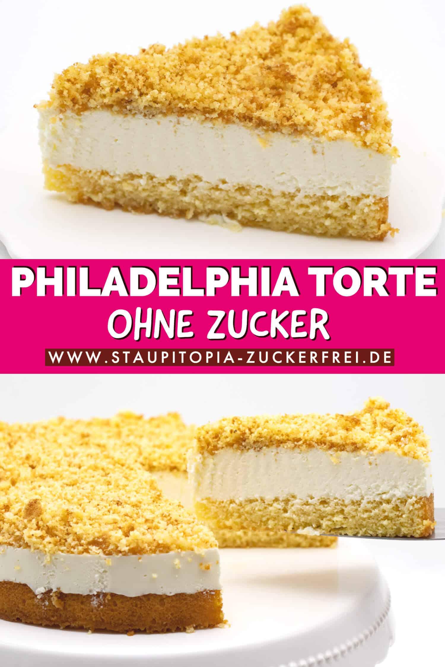 Low Carb Philadelphia Torte ohne Zucker