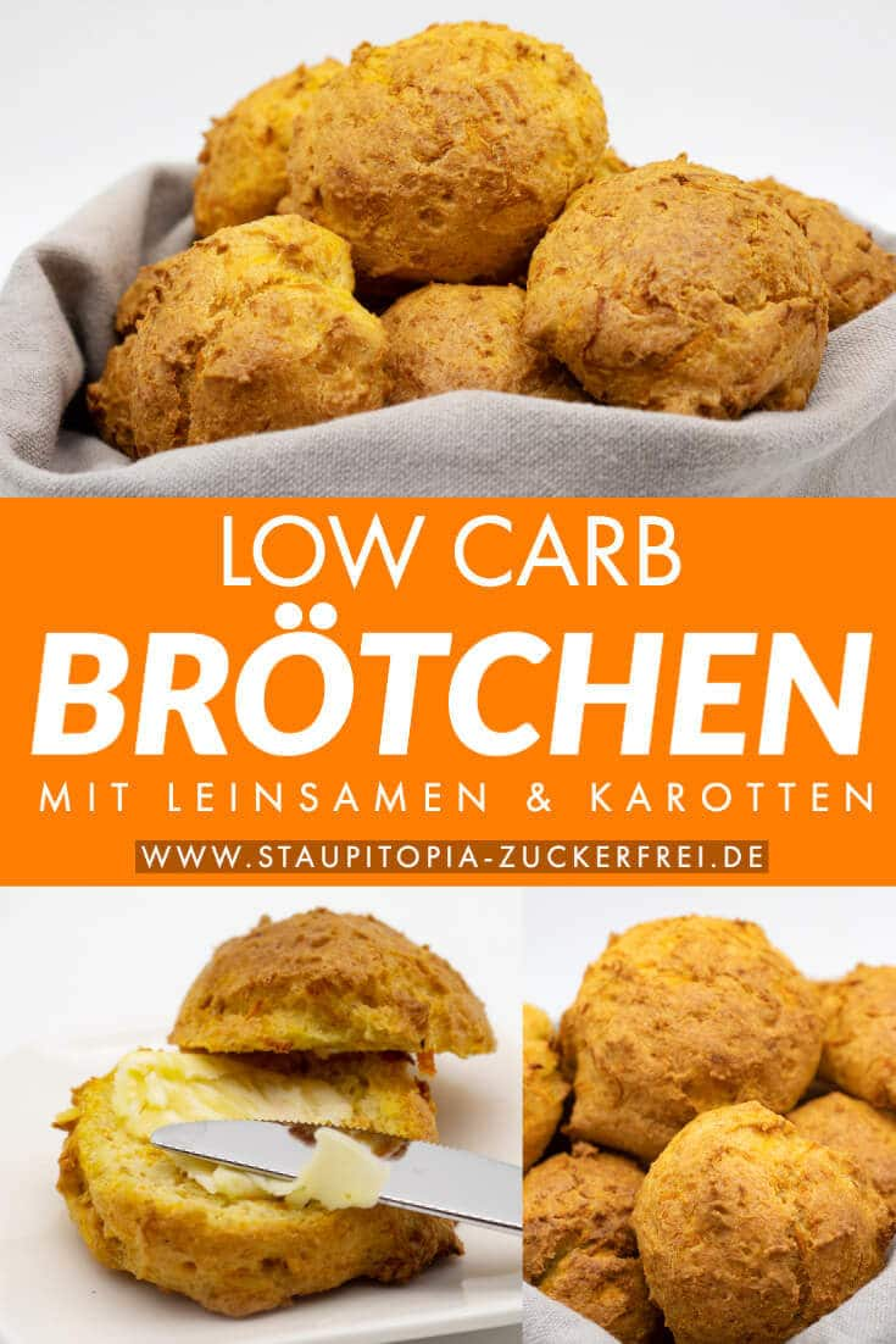 Low Carb Brötchen backen ohne Mehl