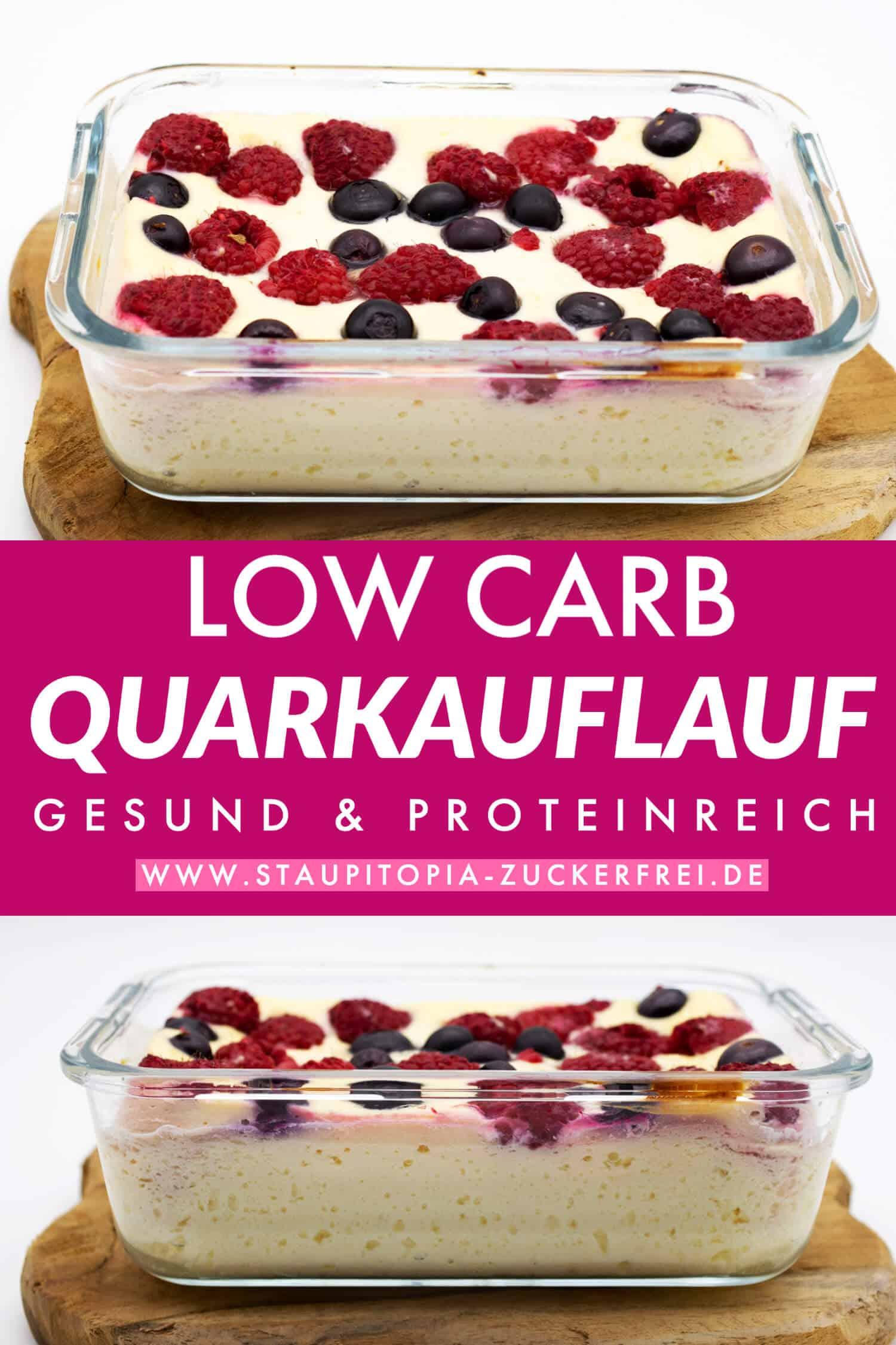 Low Carb Quarkauflauf ohne Zucker