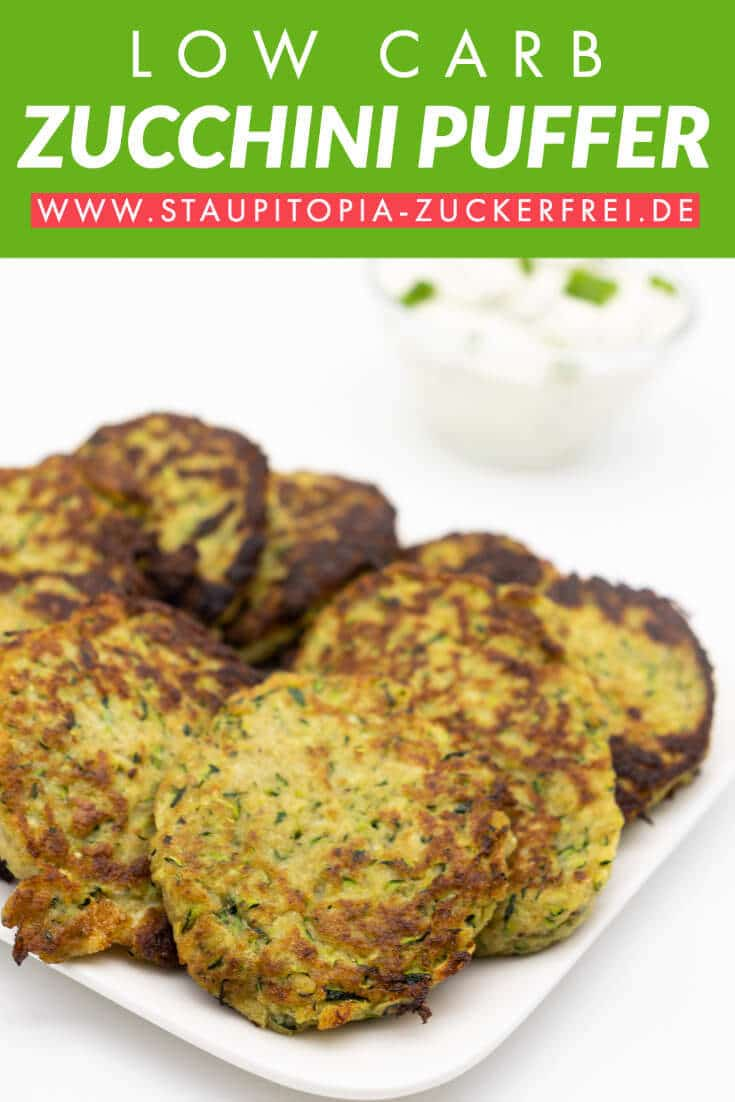 Low Carb Zucchini Puffer ohne Mehl und Kohlenhydrate