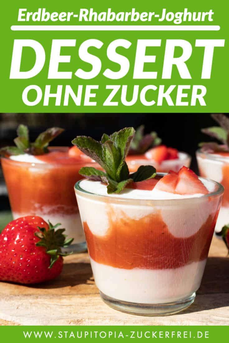 Gesundes Dessert ohne Zucker im Glas