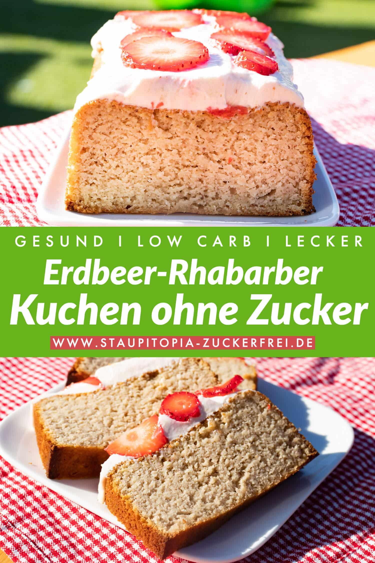 Erdbeer Rhabarber Kuchen Low Carb