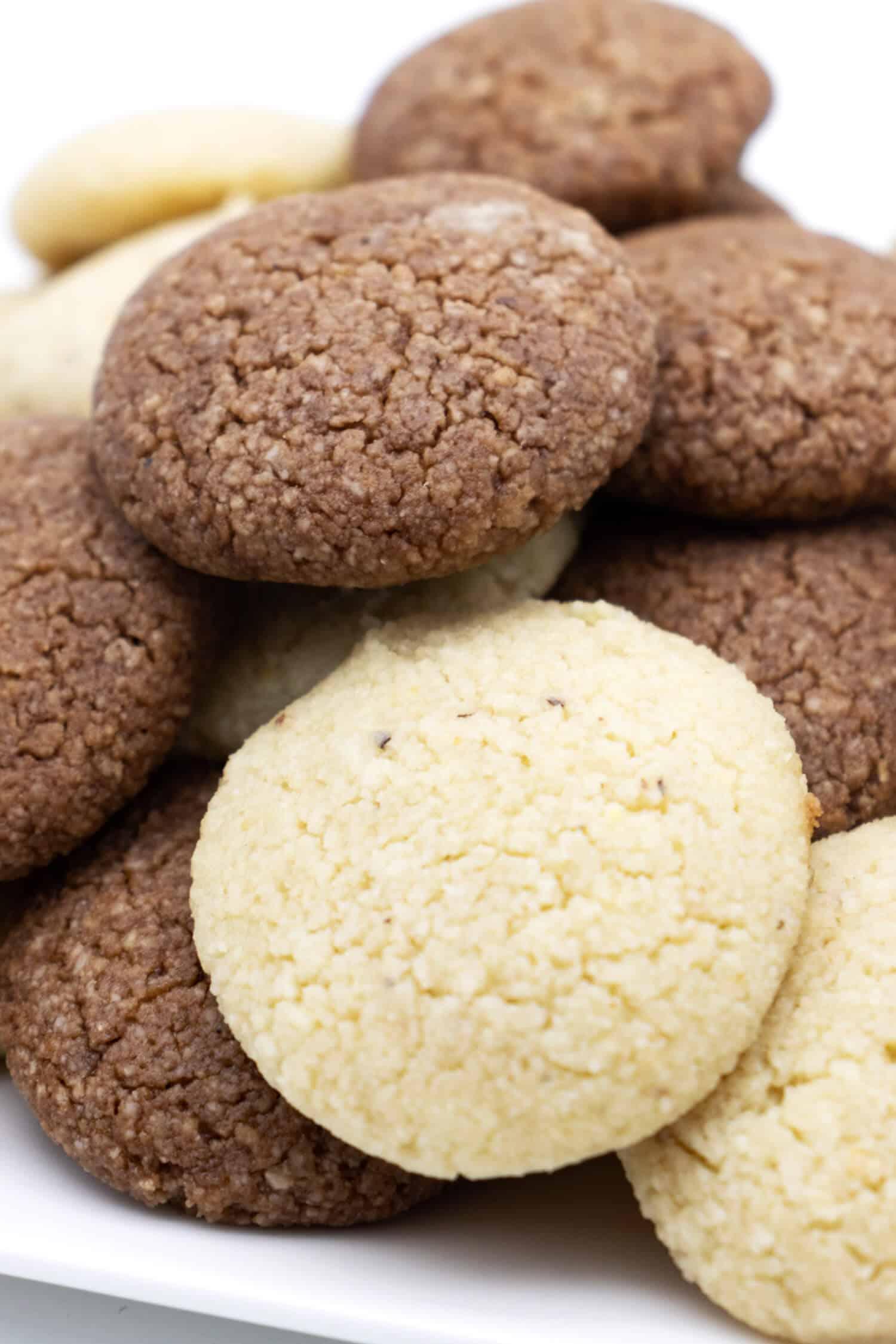 Italienische Mandelkekse ohne Mehl und ohne Zucker