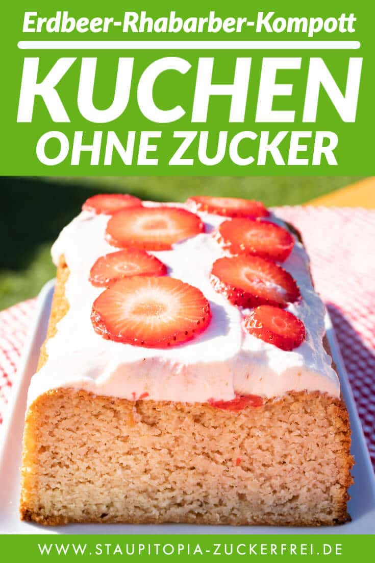 Low Carb Erdbeer Rhabarber Kompott Kuchen