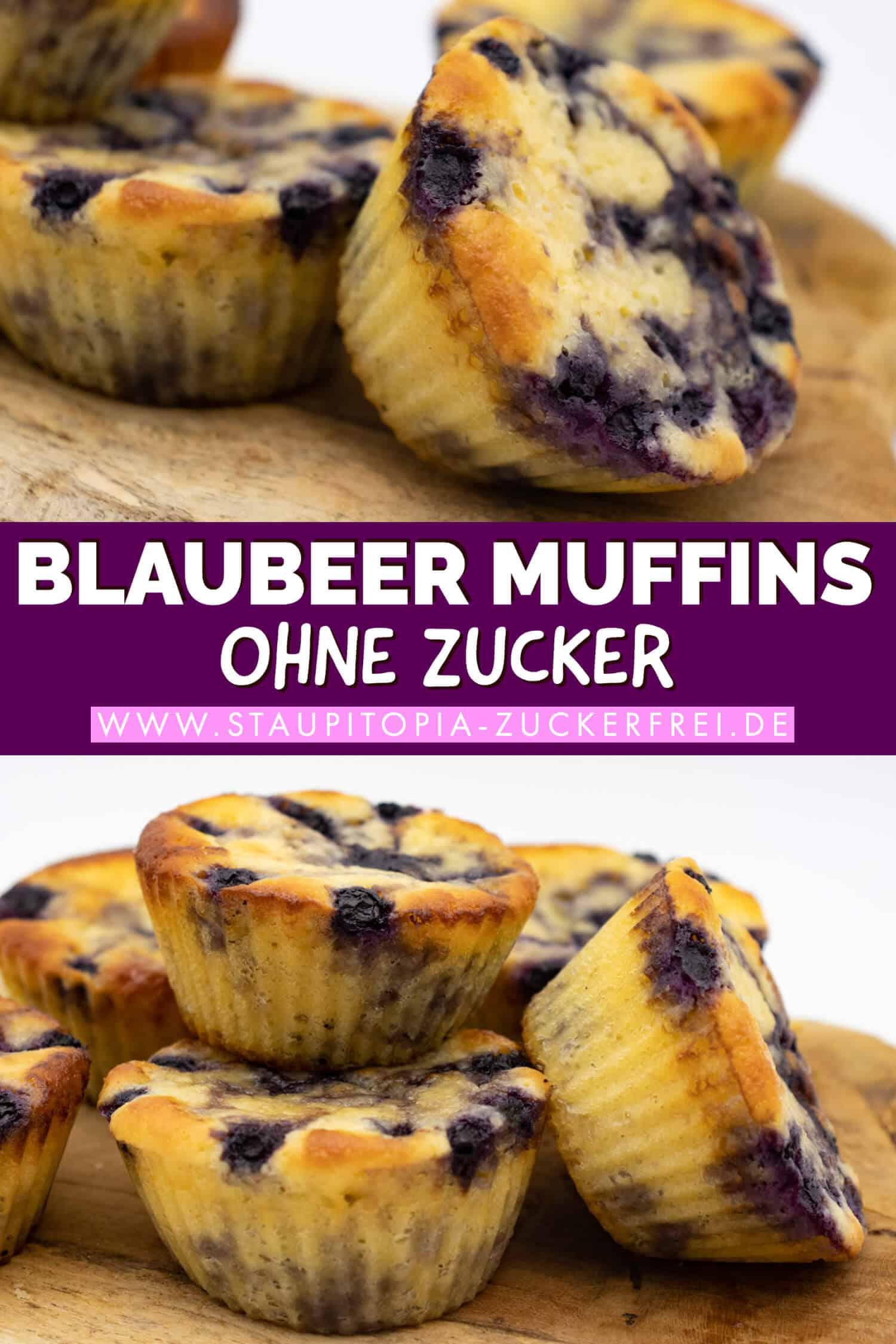 Rezept für Blaubeer Muffins ohne Zucker