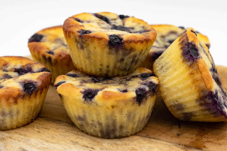 Gesunde Blaubeer Muffins Low Carb Rezept