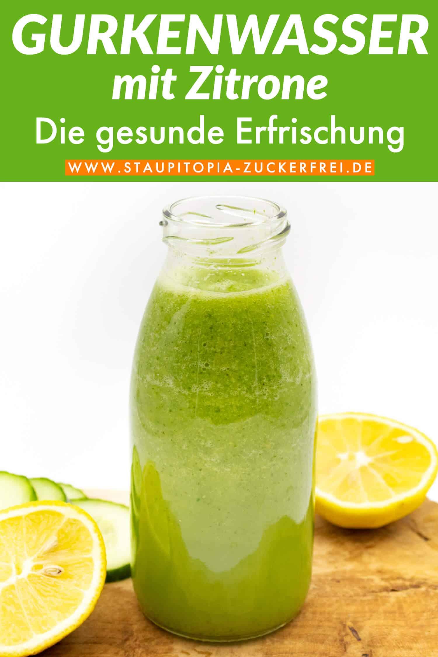 Rezept für gesundes Gurkenwasser