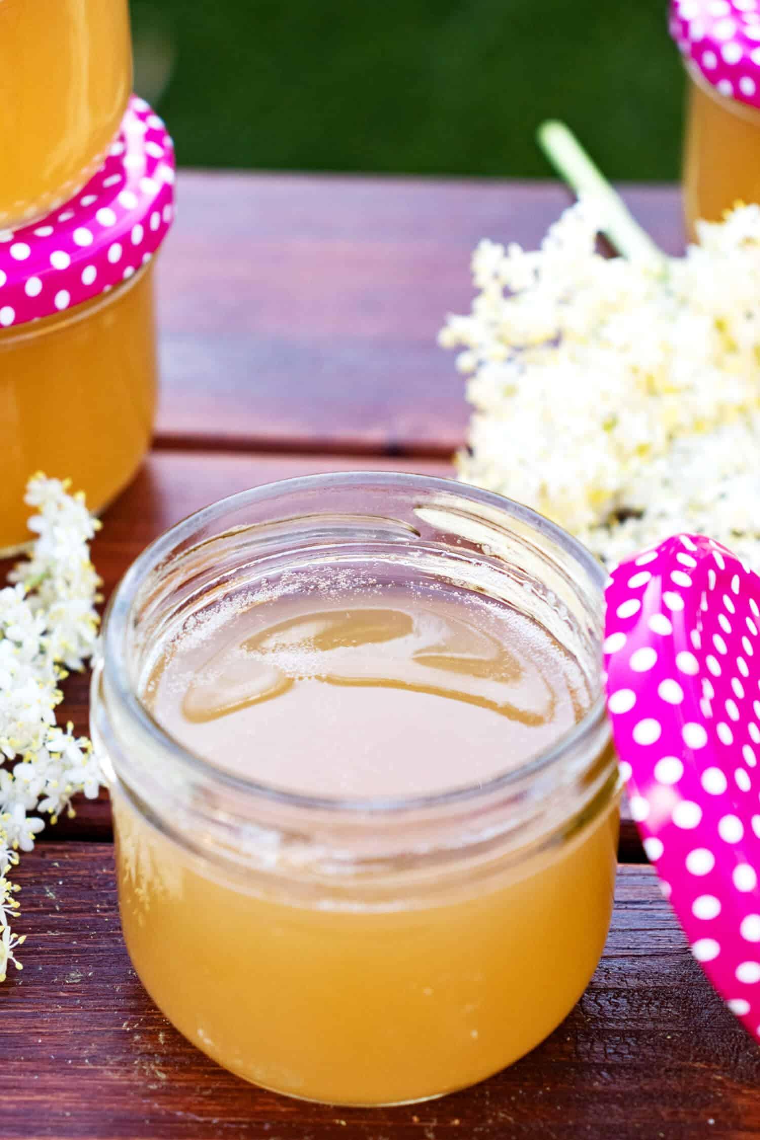 Holunderblütengelee Rezept ohne Zucker und low carb