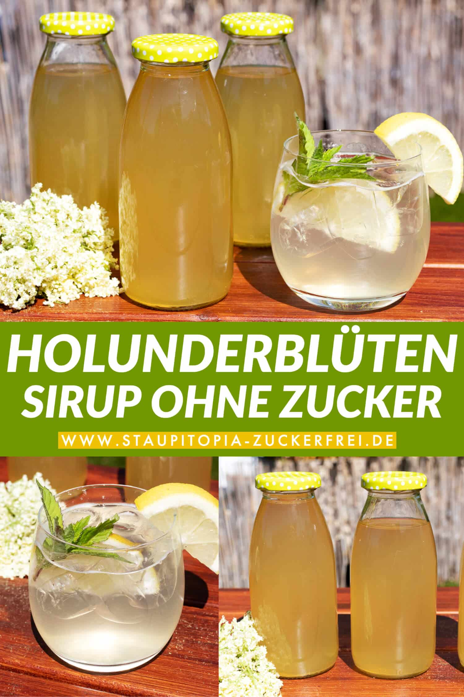 Holunderblütensirup ohne Zucker Rezept