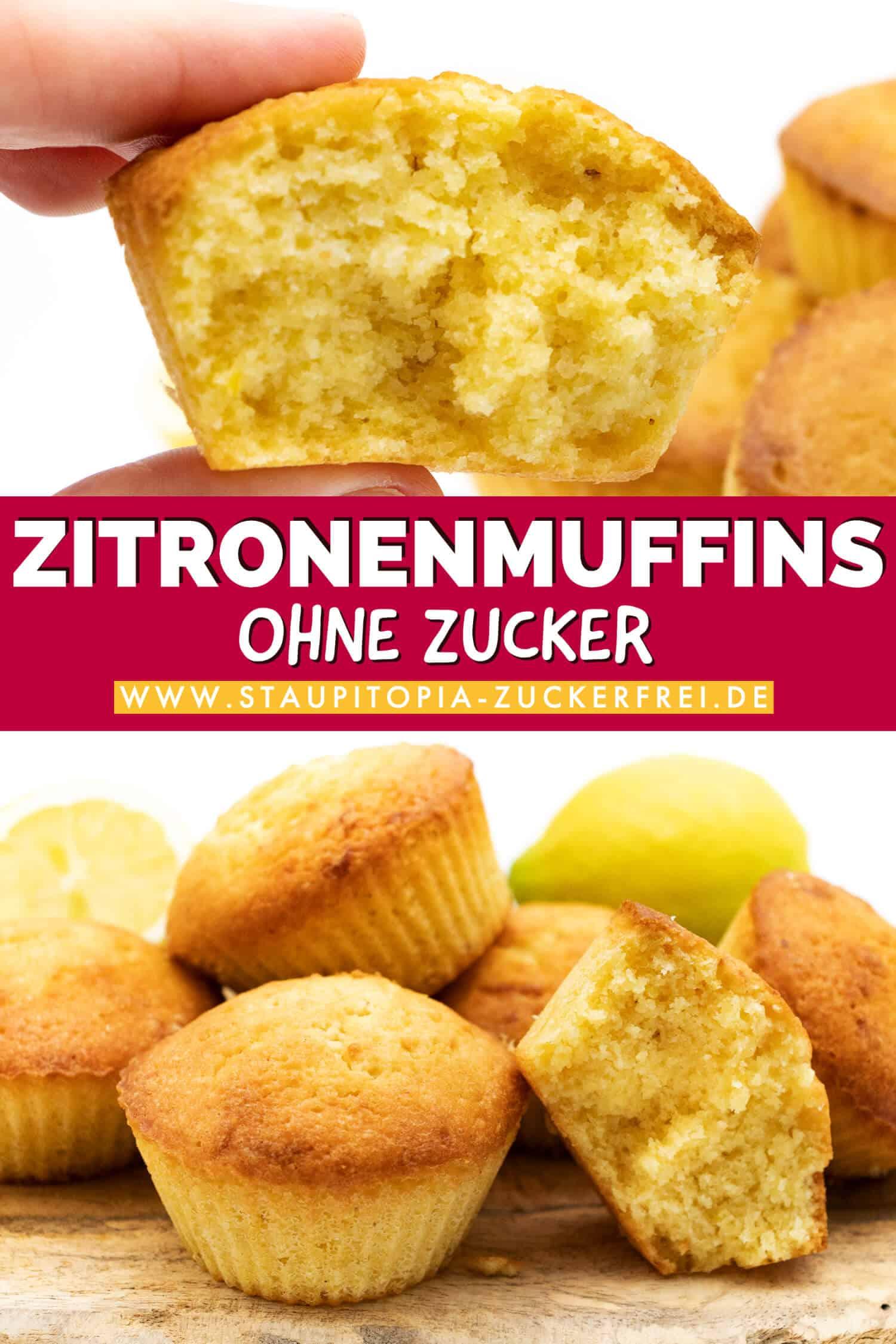 Schnelle Zitronen Muffins ohne Zucker und Low Carb