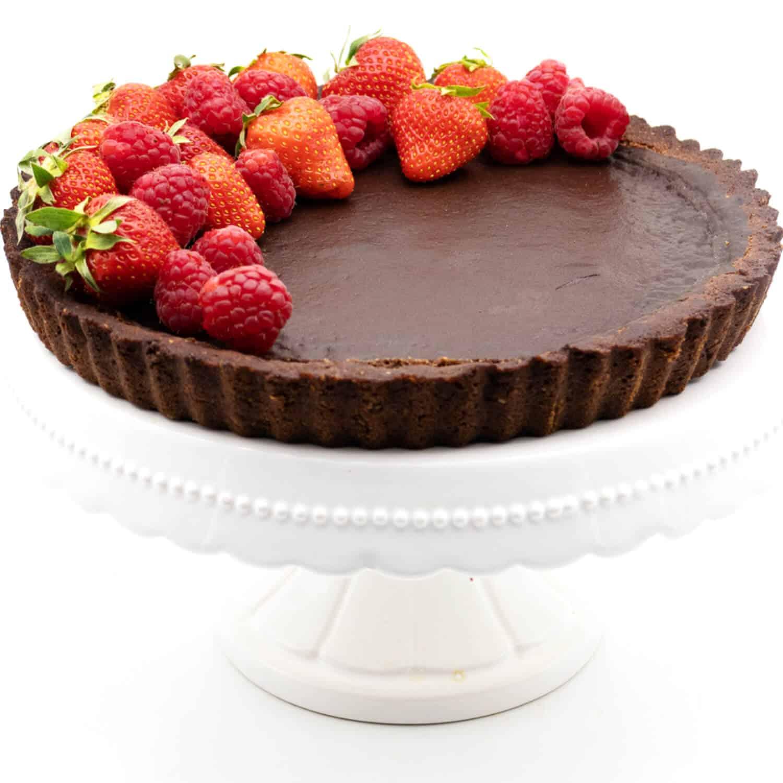 Schokoladentarte mit Mürbeteig Rezept