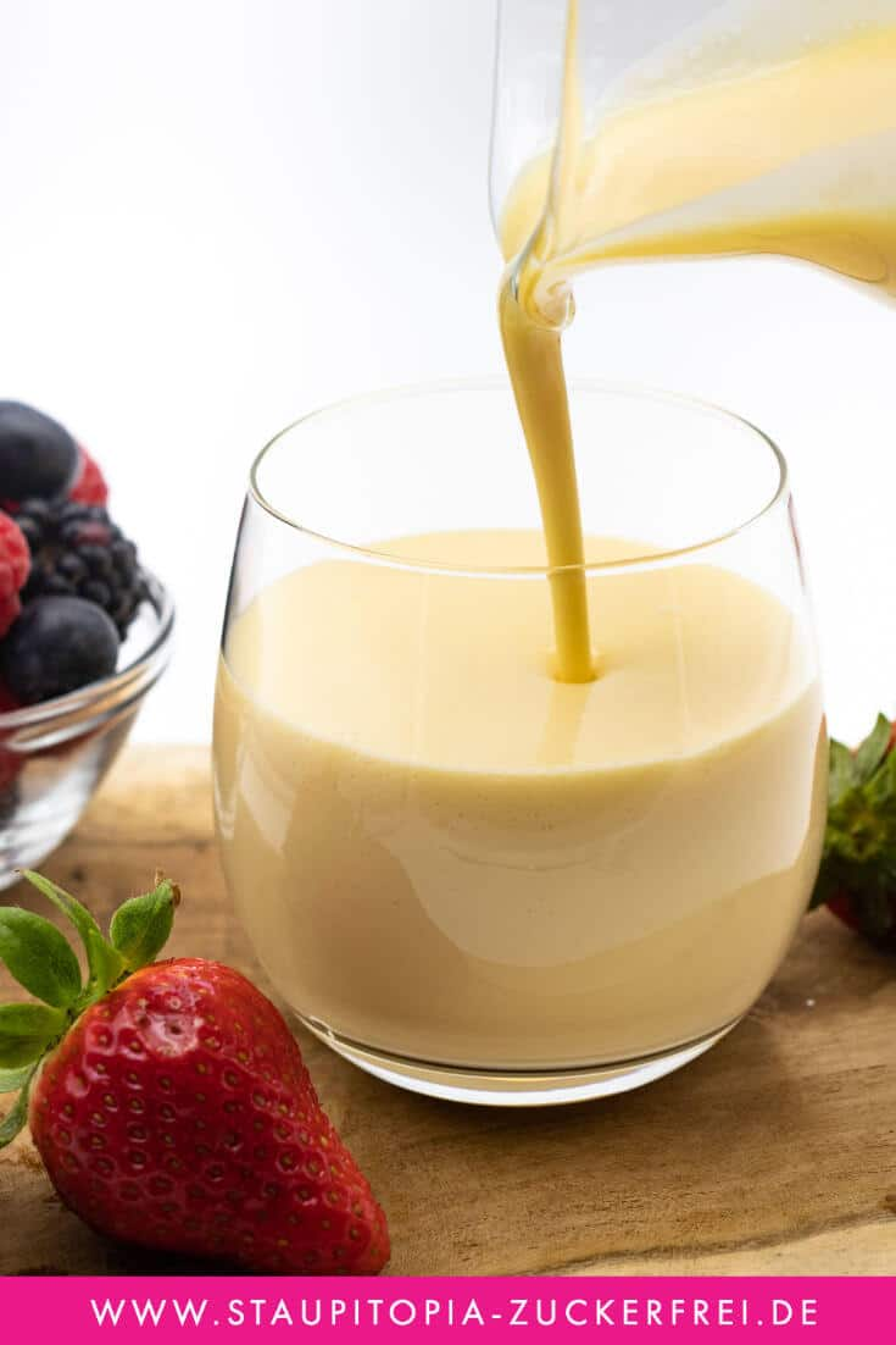 Vanillesoße selber machen ohne Zucker