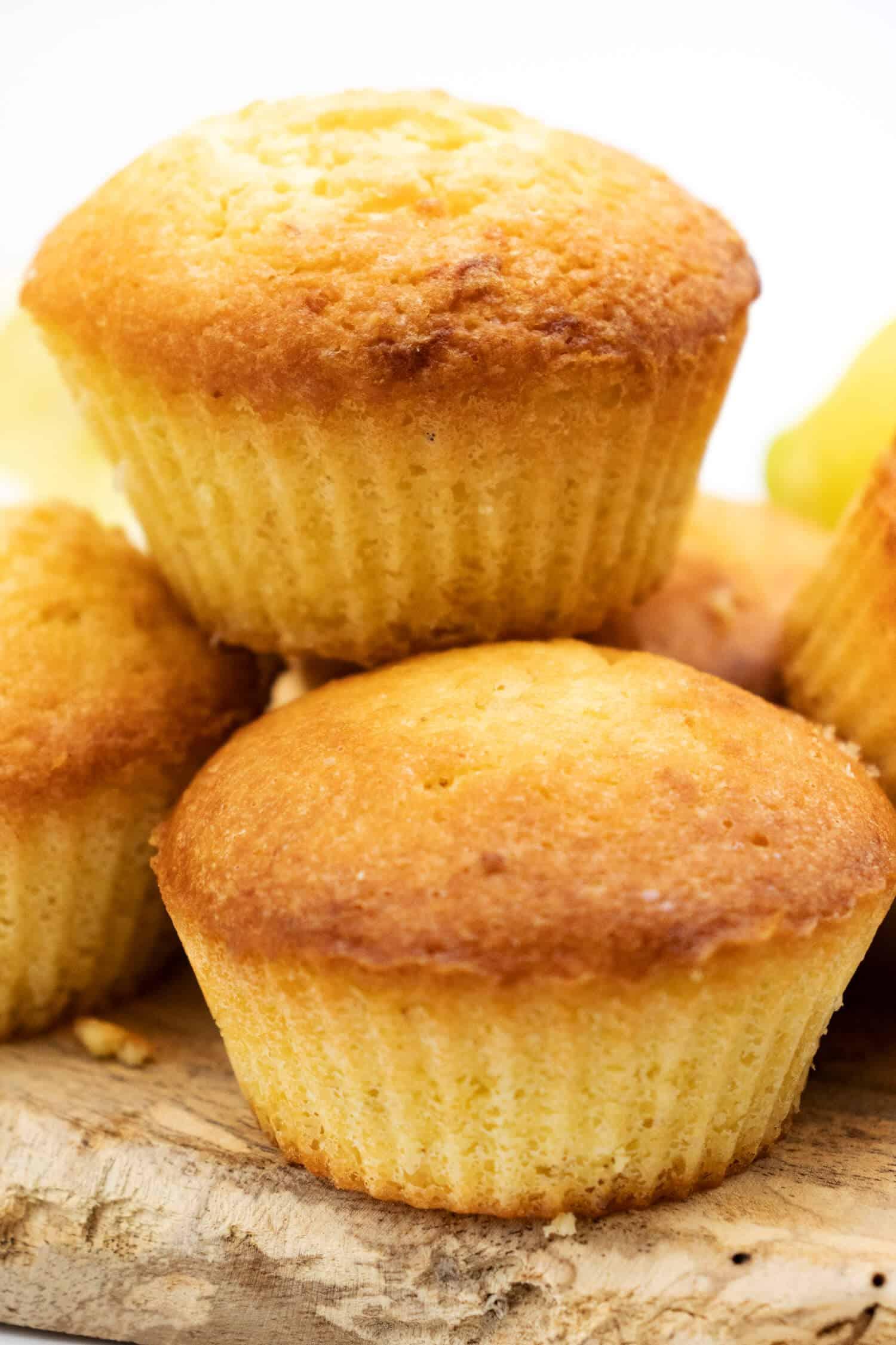 Zitronen Muffins Rezept ohne Zucker und Mehl