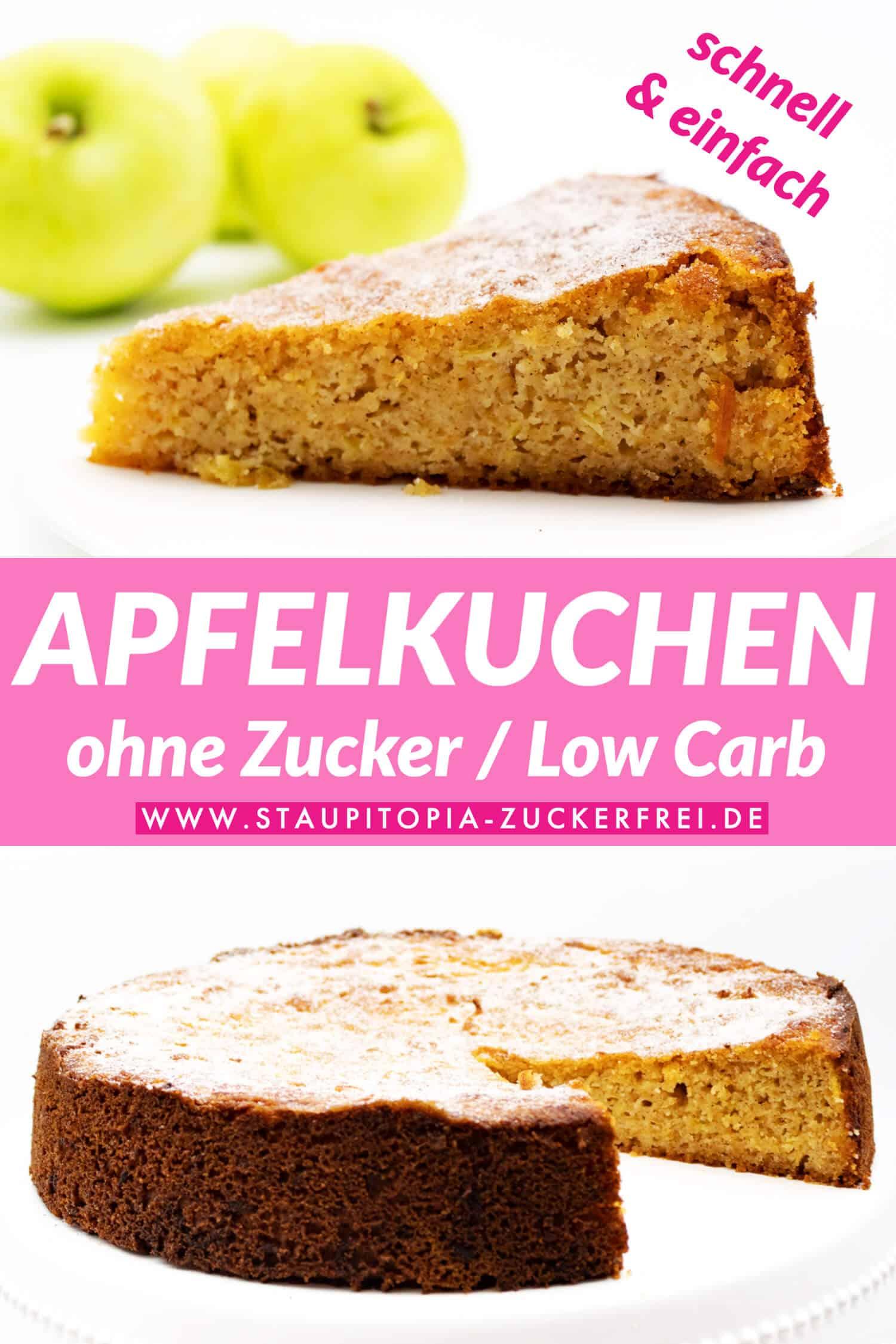 Low Carb Apfelkuchen ohne Zucker Rezept
