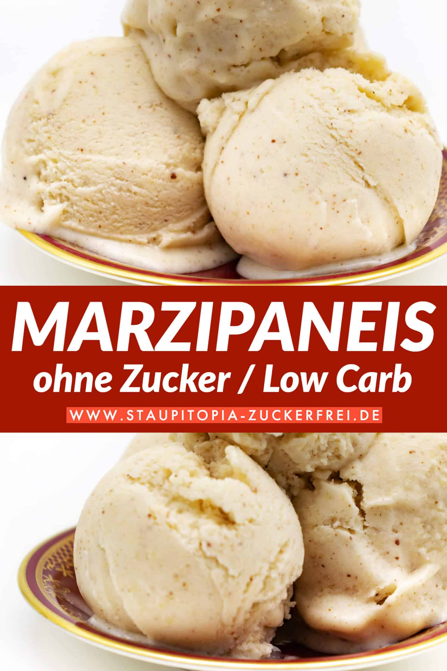 Low Carb Marzipaneis ohne Zucker Rezept