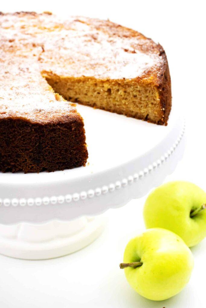 Apfelkuchen ohne Zucker und Mehl Rezept