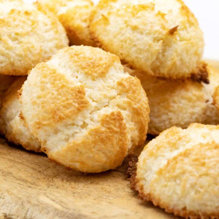 Kokosmakronen saftig und ohne Zucker