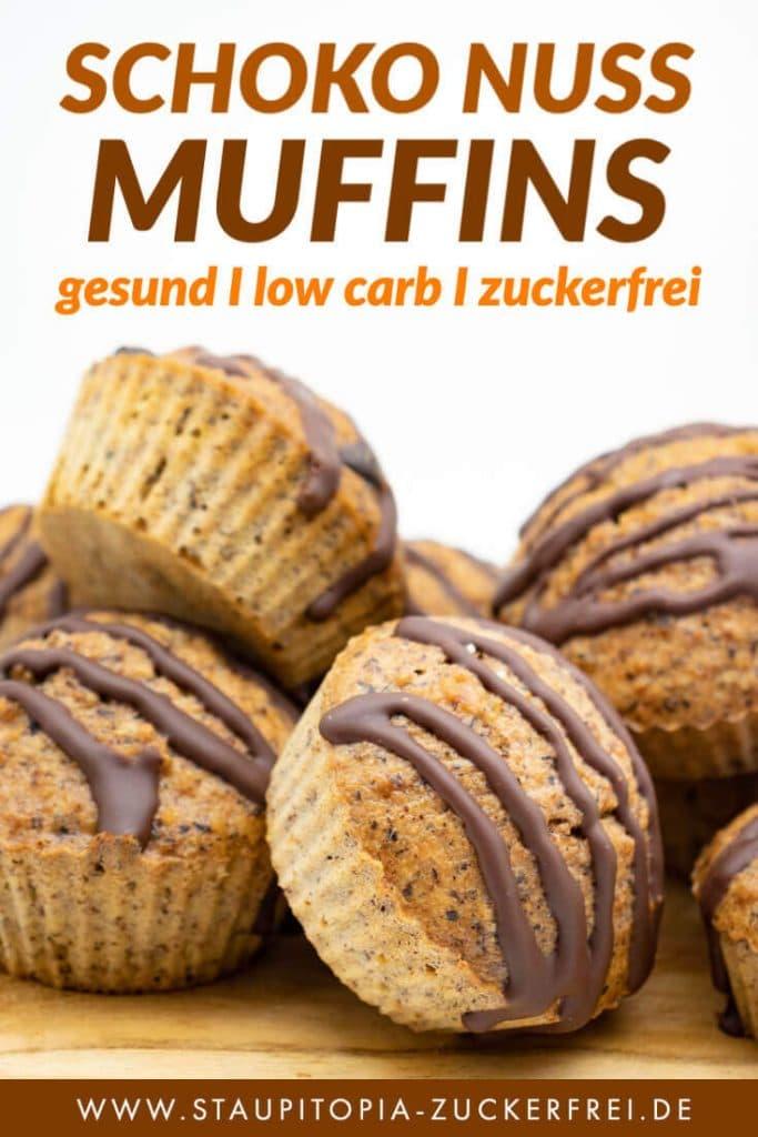Saftige Schoko Nuss Muffins Low Carb