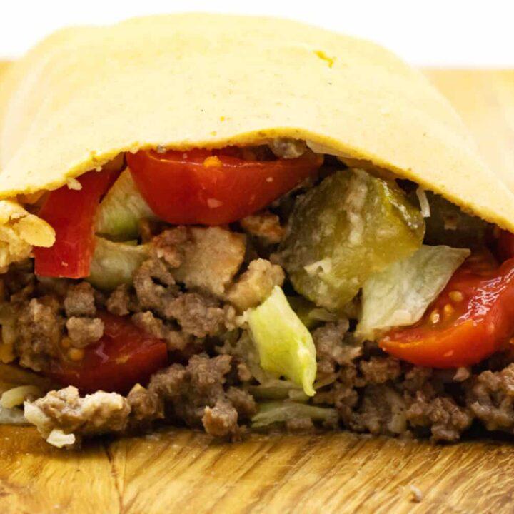 Low Carb Big Mac Rolle Rezept