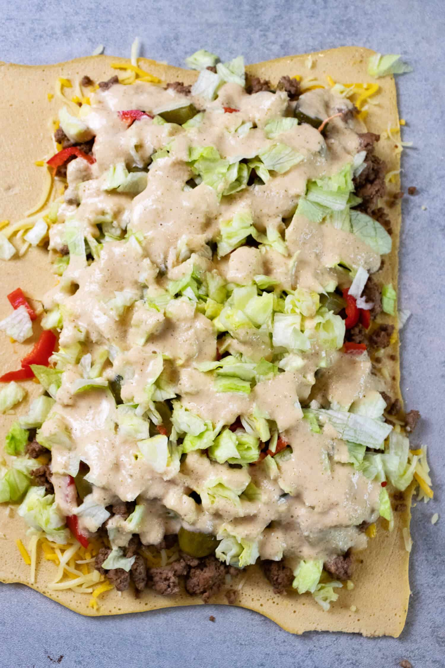 Low Carb Rezepte Big Mac Rolle ohne Kohlenhydrate