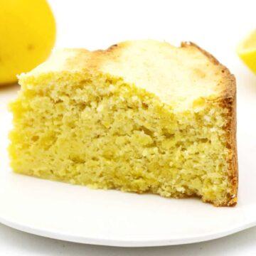 Zitronen Wolke Kuchen ohne Zucker selber machen