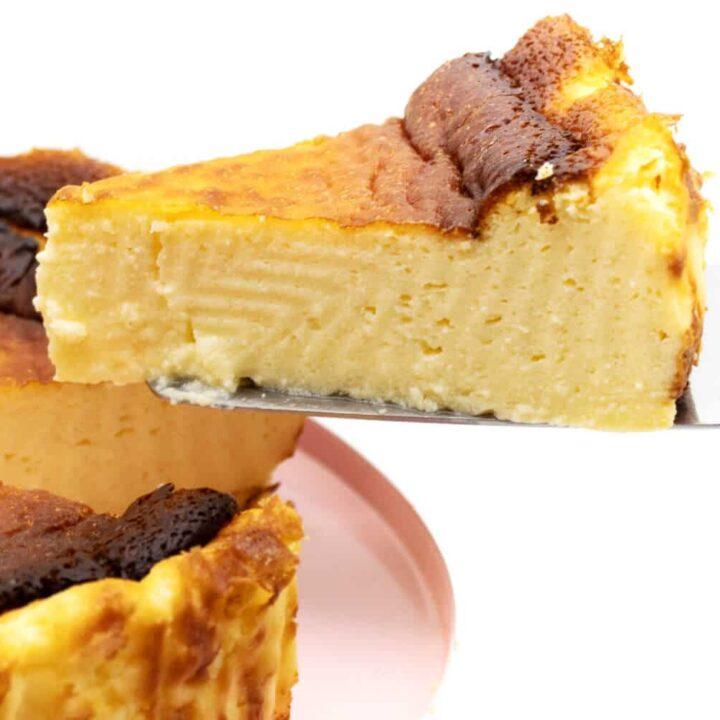 Baskischer Käsekuchen ohne Zucker Rezept