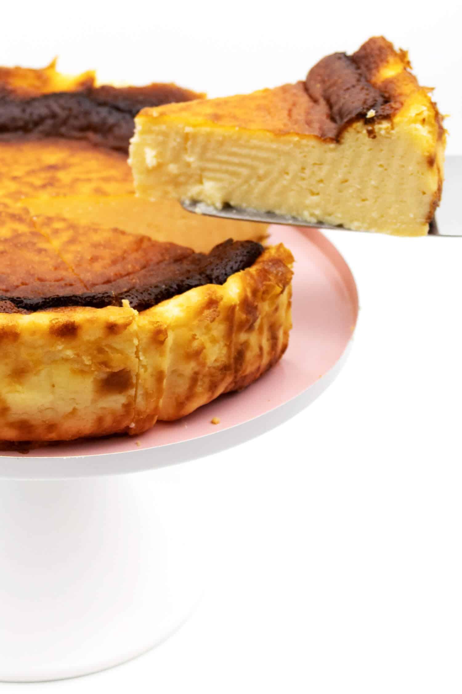 Käsekuchen ohne Butter und Zucker backen
