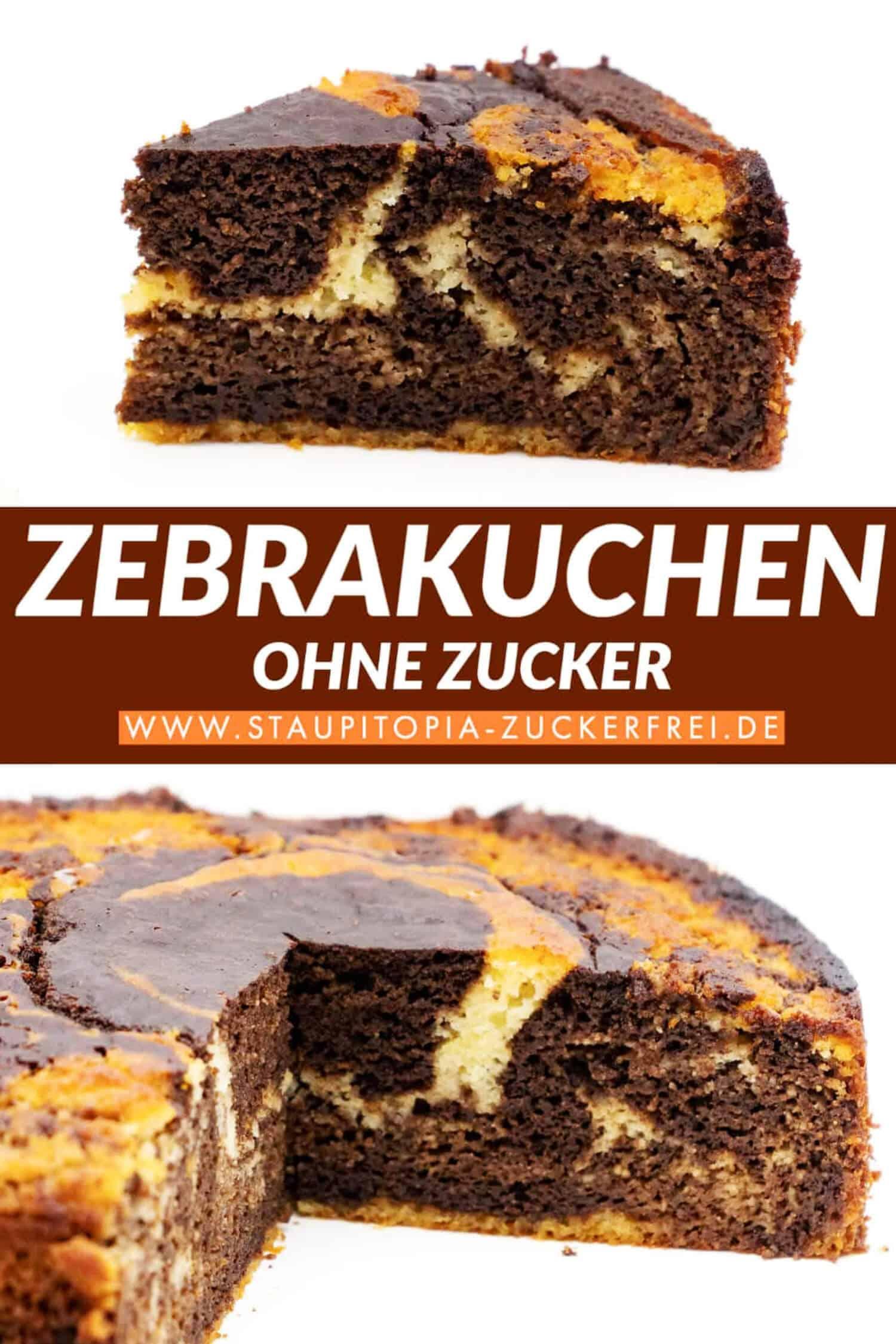 Low Carb Zebrakuchen ohne Zucker Rezept