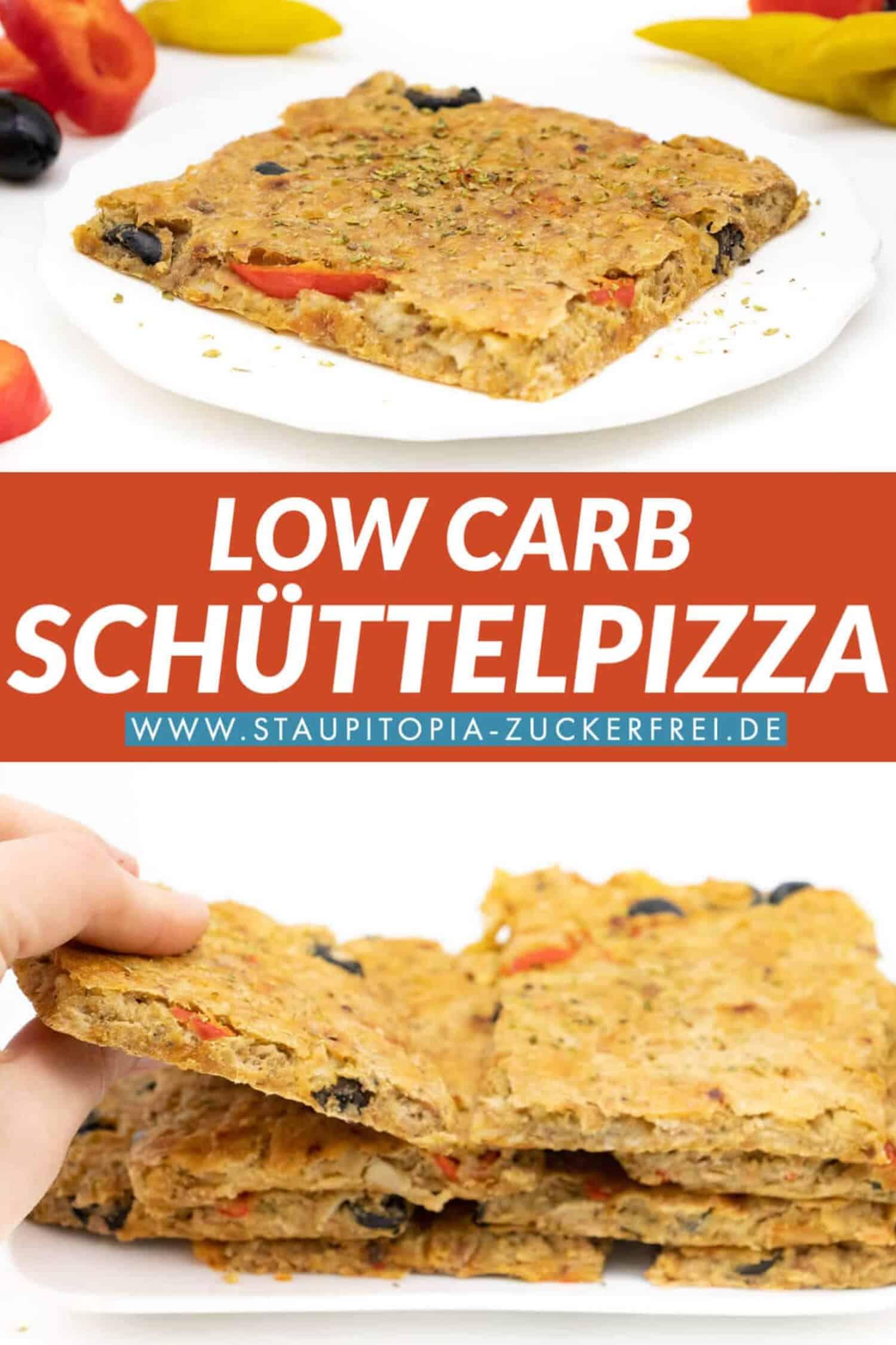 Schüttelpizza Low Carb Rezept