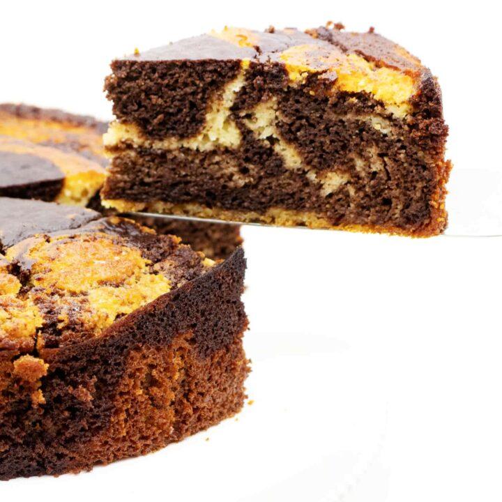Zebrakuchen ohne Zucker backen